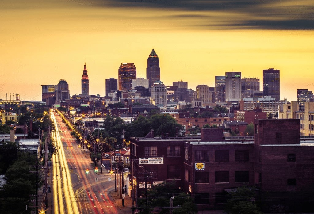 A View of Cleveland City