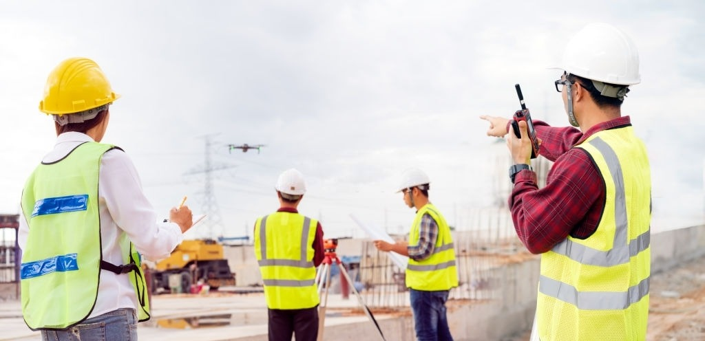 Drones Used Throughout Construction Project