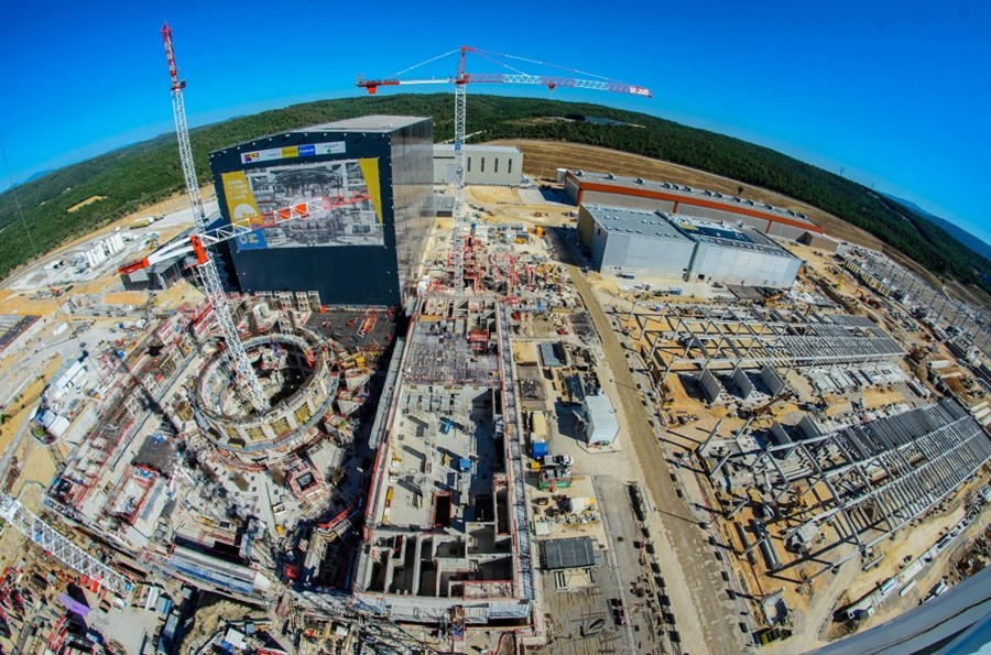 Fisheye View of ITER Project Construction Site
