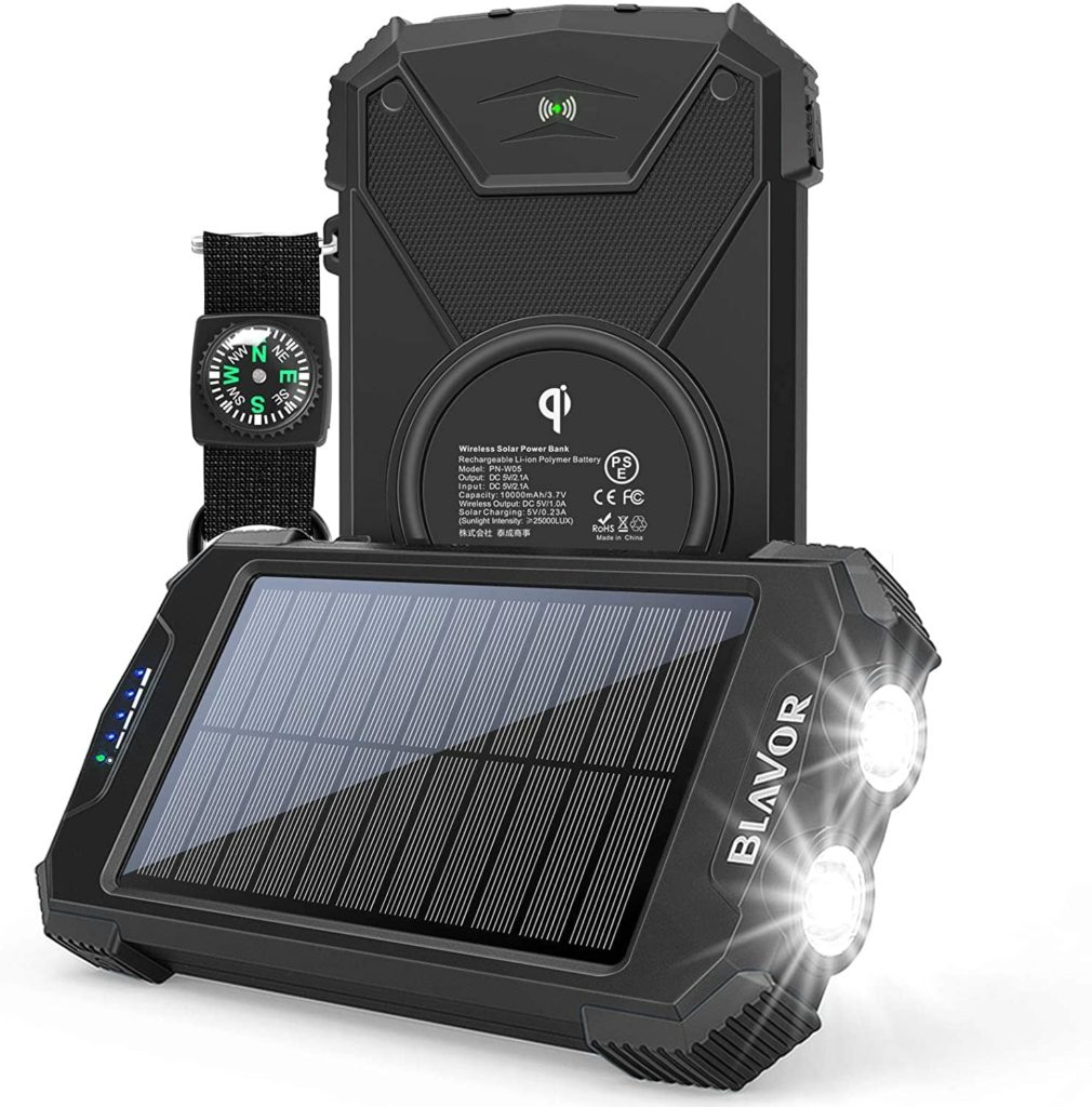 Blavor Solar Charger Power Bank for Smartphone